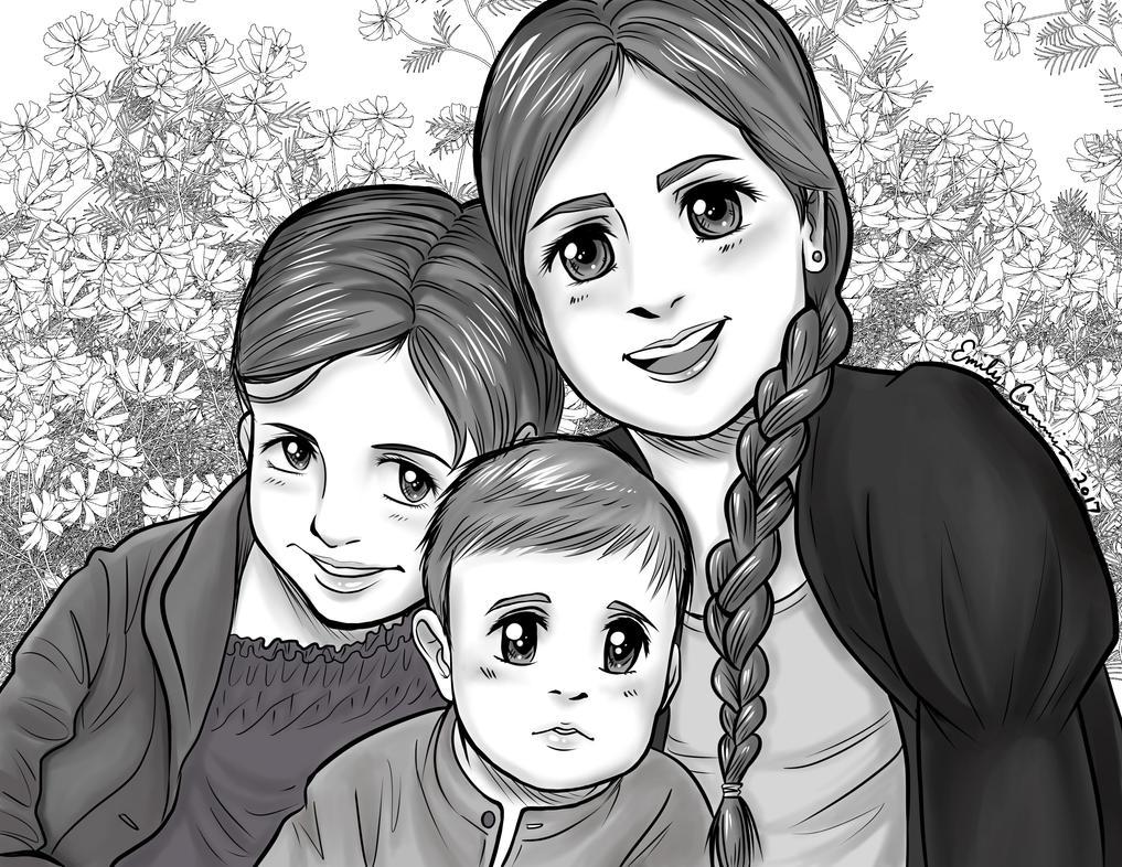 Angela's Grandchildren Anime Portrait by EmilyCammisa
