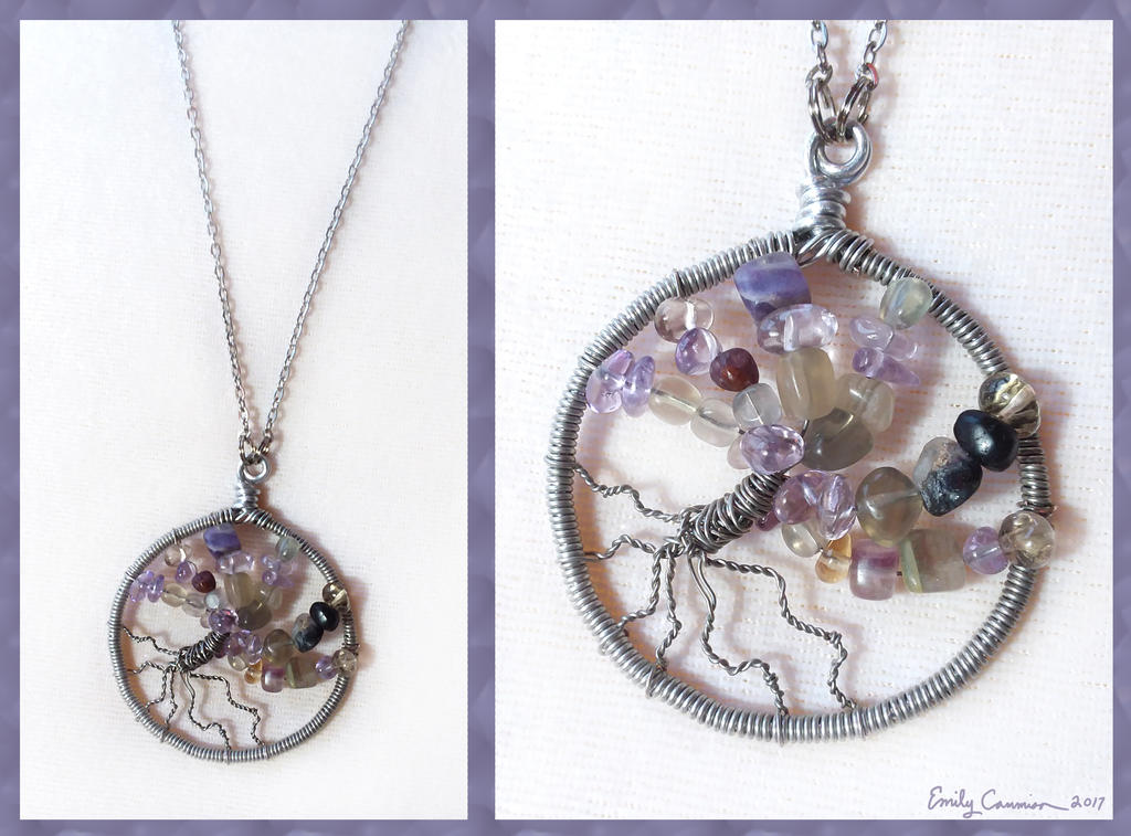 Tree of Winter Magic Necklace by EmilyCammisa