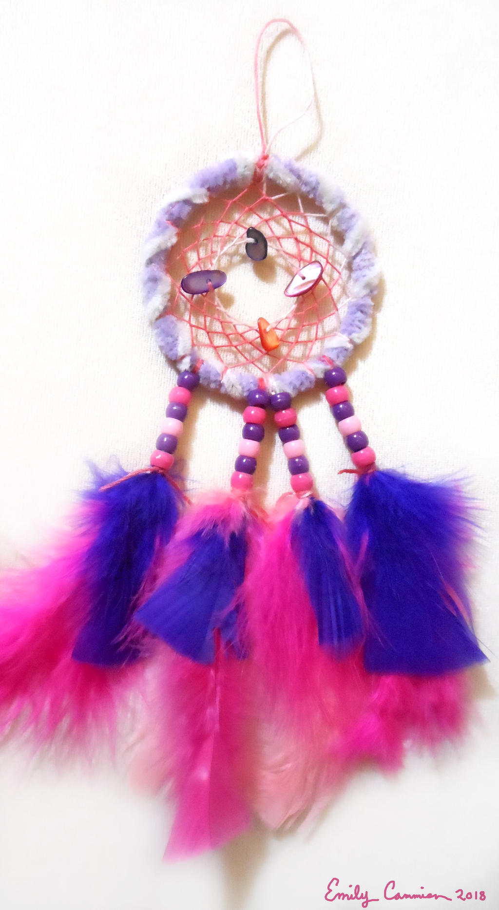 Pink, Purple, and Peppy Dreamcatcher by EmilyCammisa