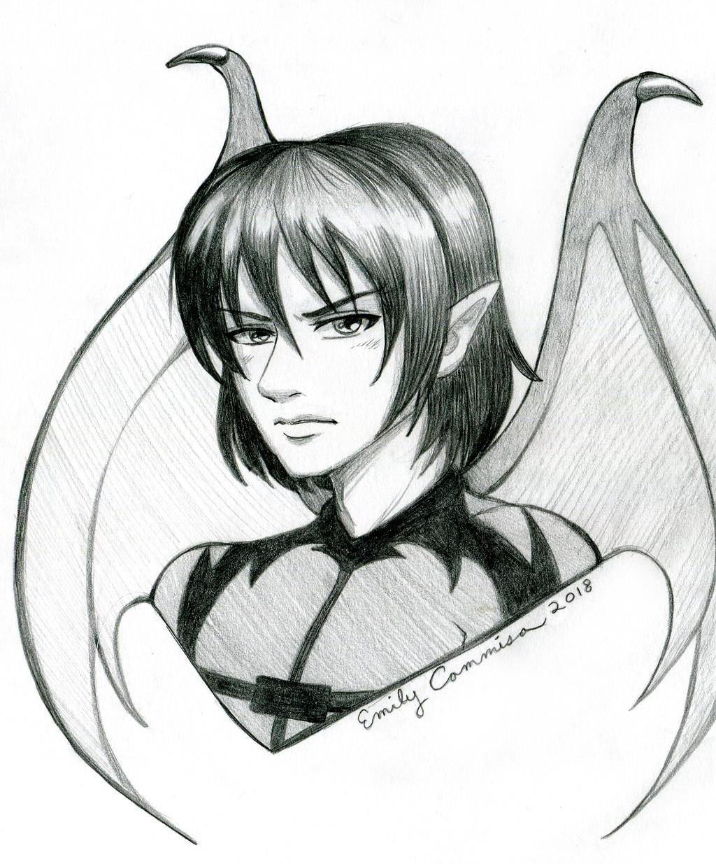 Macilent OC Portrait Sketch by EmilyCammisa
