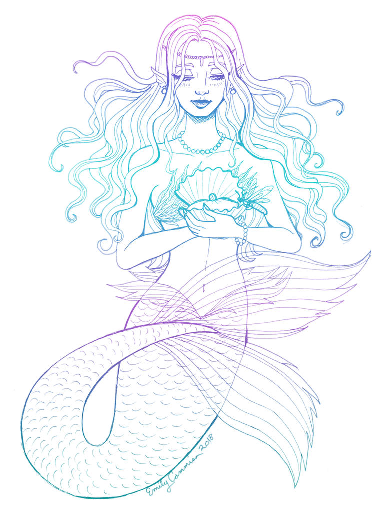 Sirena the Mermaid by EmilyCammisa