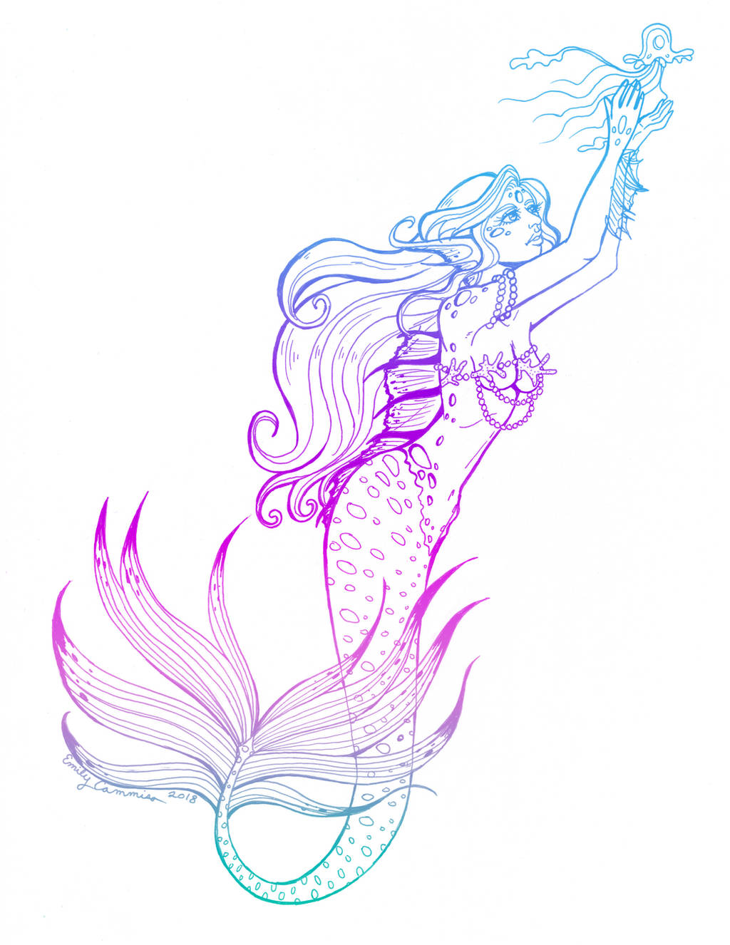 Arielle's Mermaid Tattoo by EmilyCammisa