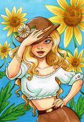 Sunflower Girl by EmilyCammisa