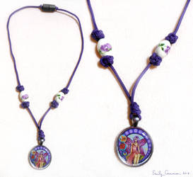 Stained Glass Fairy Necklace by EmilyCammisa
