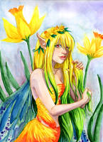 Daffodil Fairy Colored by EmilyCammisa