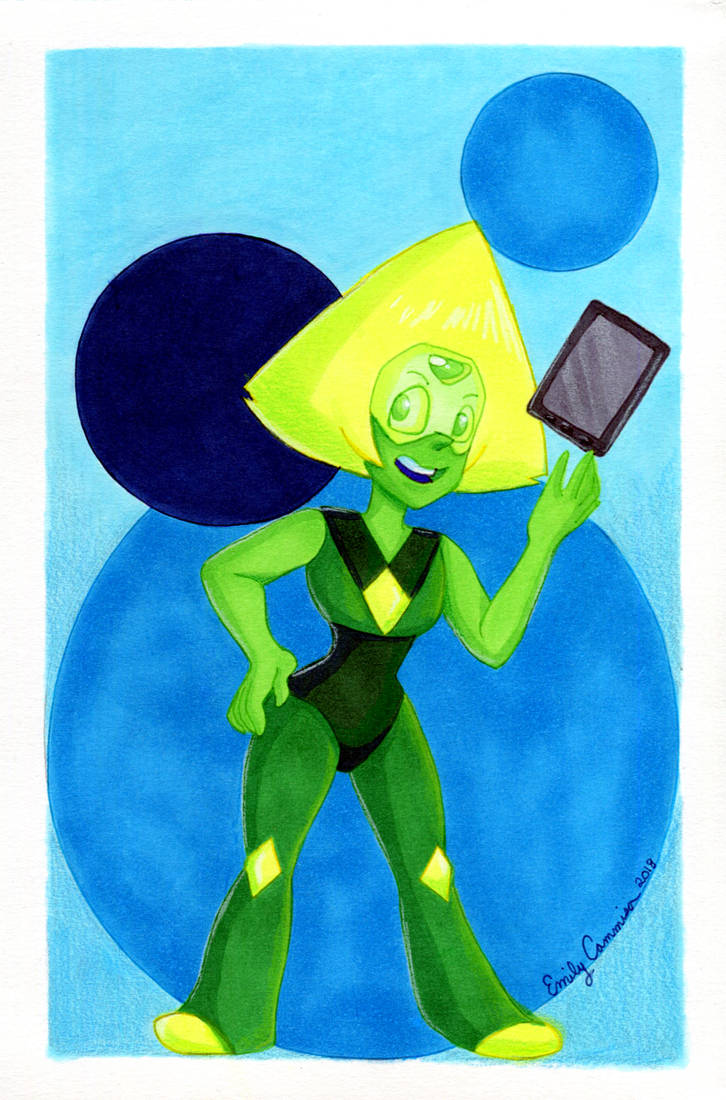 Finally finished this fanart of Peridot from Steven Universe, just in time for Saratoga Comic Con. Enjoy! Lineart: Rough: