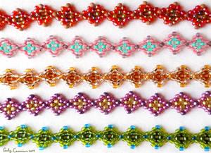 Diamond Weave Seed Bead Bracelets