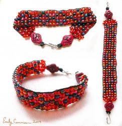 Diamond Path Loom Bracelet