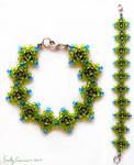Deep Forest Diamond Weave Bracelet