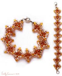 Golden Harvest Diamond Weave Bracelet