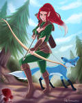 Vulpinia Foxfief the Half-Elf