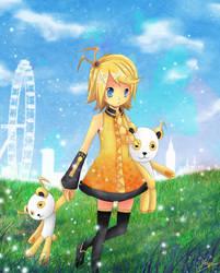 Yellow Flower Rin by KaitoYan