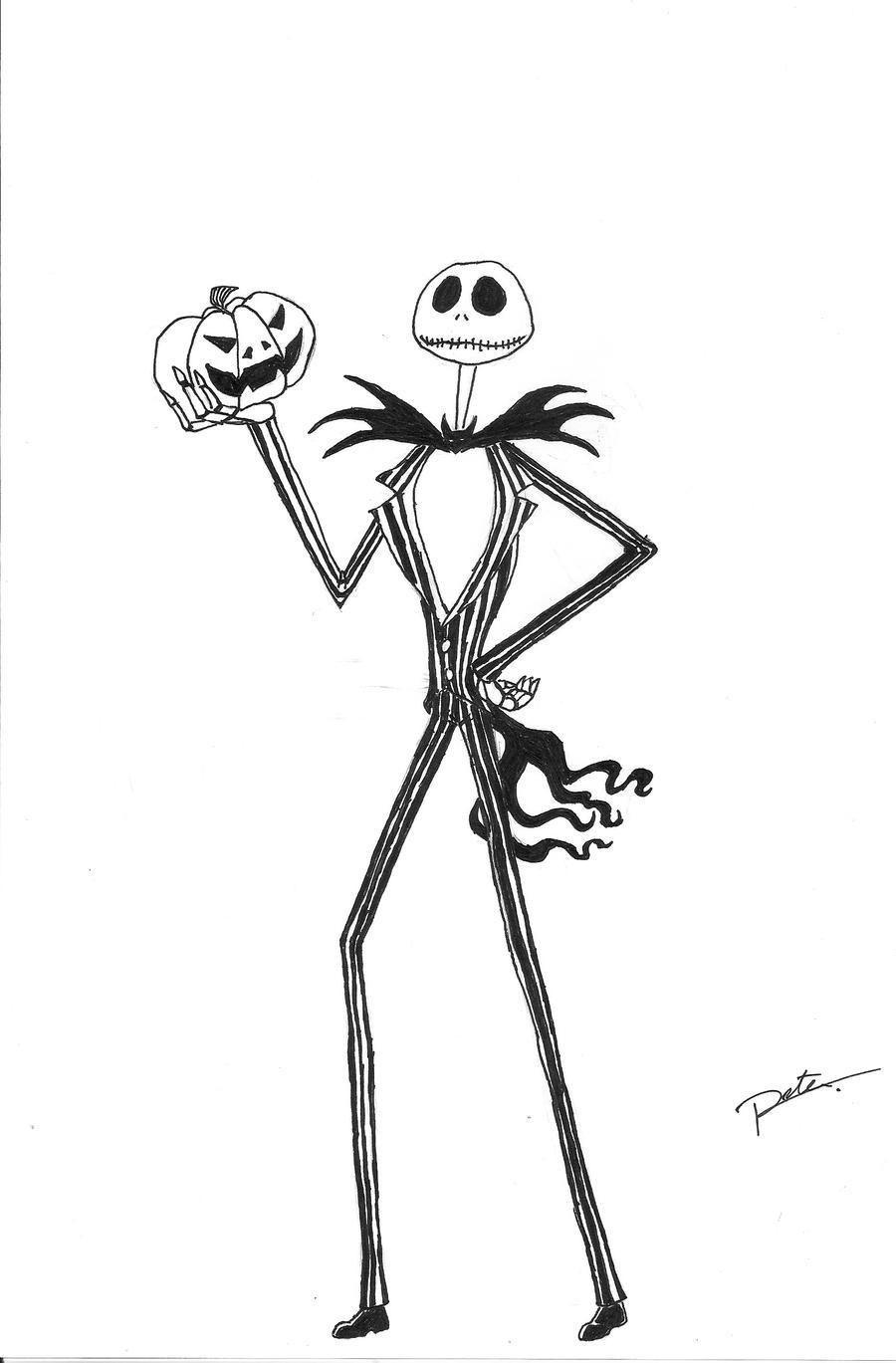 jack skellington coloring pages - jack the pumpkin king free coloring pages