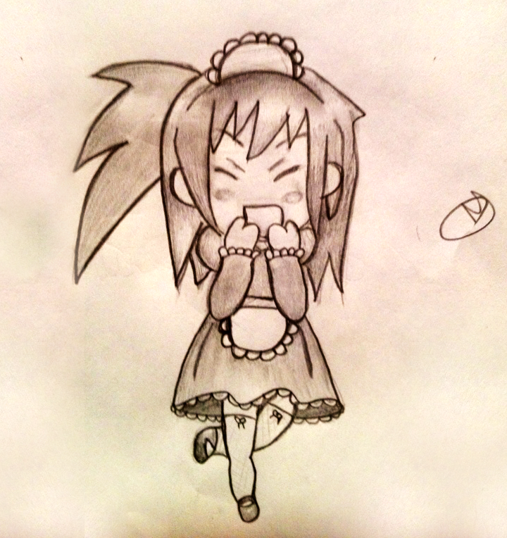 Chibi Maid by thedevilhaswings