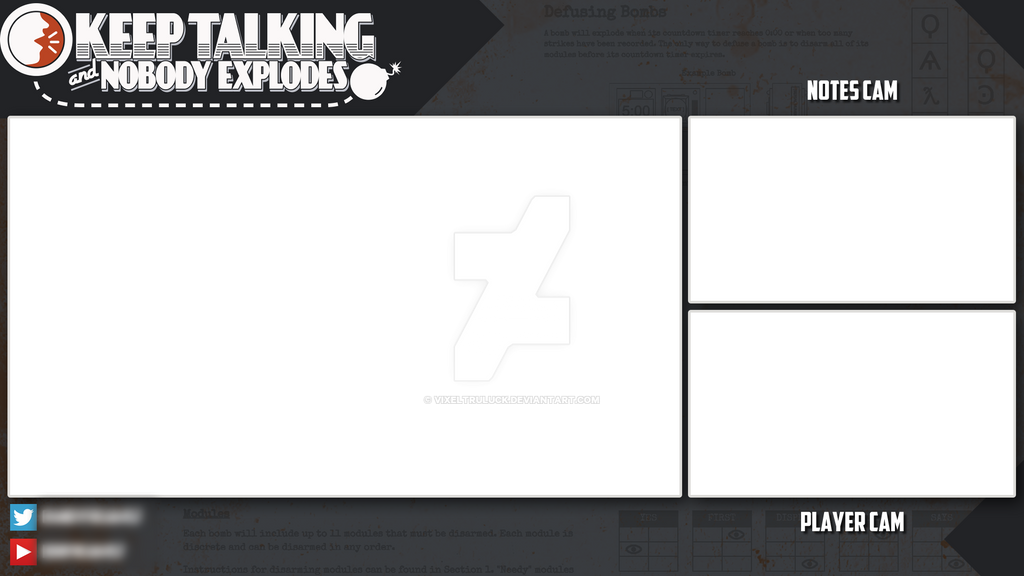 keep talking and nobody explodes stream overlay by. Black Bedroom Furniture Sets. Home Design Ideas