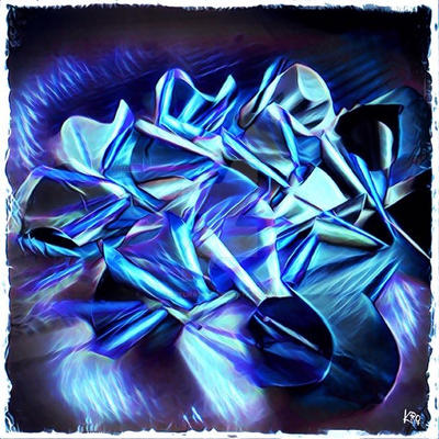 Perles d'aluminium - bleu by atelierskro