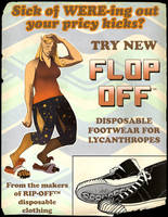 Flop-Off: Disposable Lycanthrope Shoes by nothere3