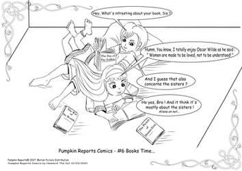 Pumpkin Reports Comics - #6 Books Time...
