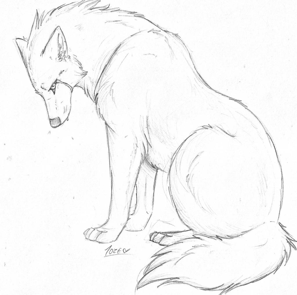 Howling Wolf Drawing Crying By Pandoraswolf