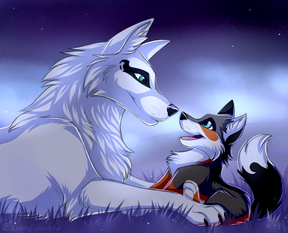 Mother and daughter by Aerofistashka