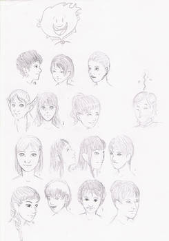 Style practice Girl's faces