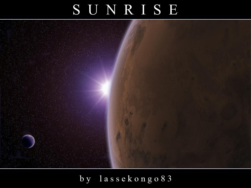 Sunrise over a Mars wannabe. by lassekongo83