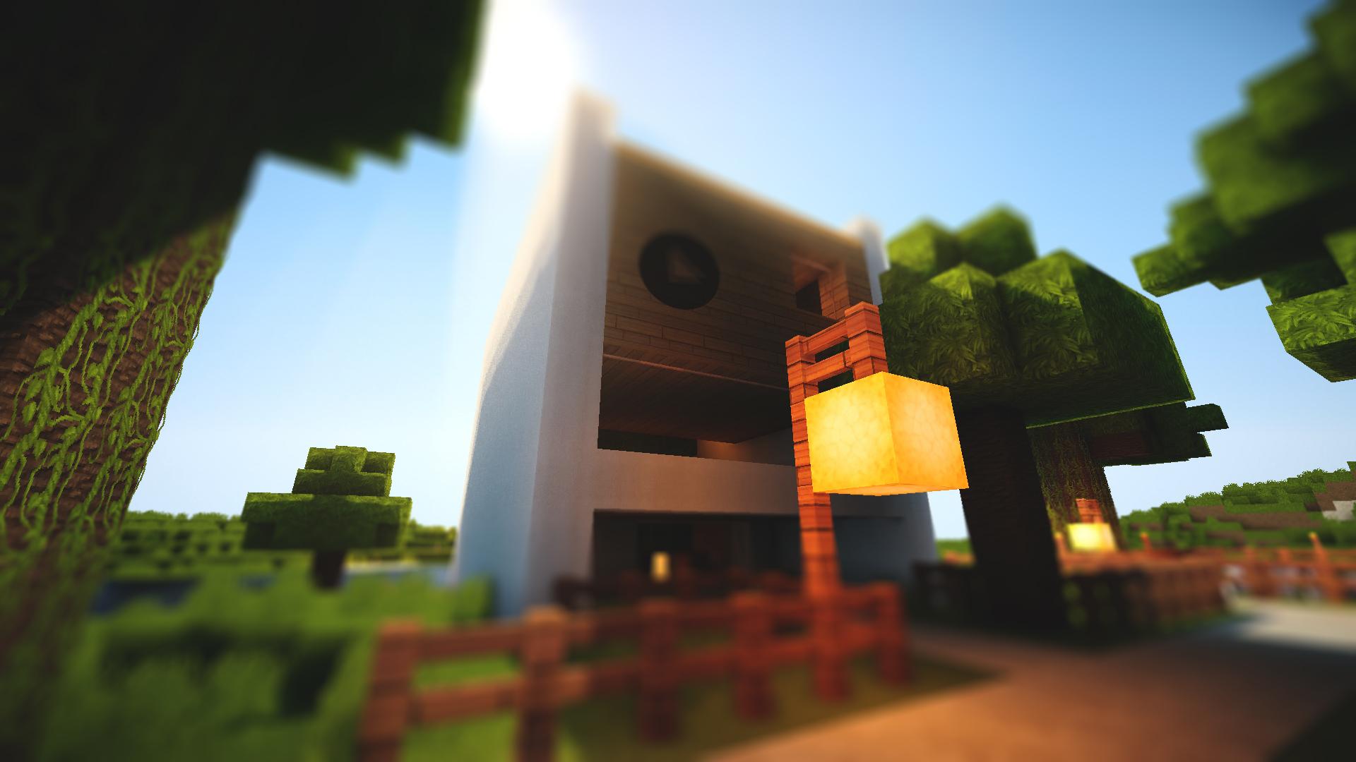 Popular Wallpaper Minecraft Simple - minecraft__minimal_modern_house__1_by_lpzdesign-d5dmyd9  Graphic_976567.jpg