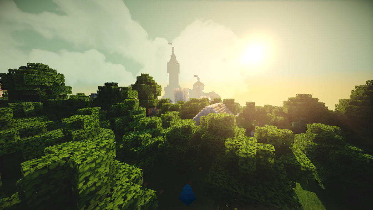 Mindecraft beautiful Sunlight by lpzdesign
