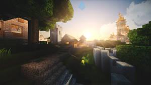 Minecraft Skyline by lpzdesign