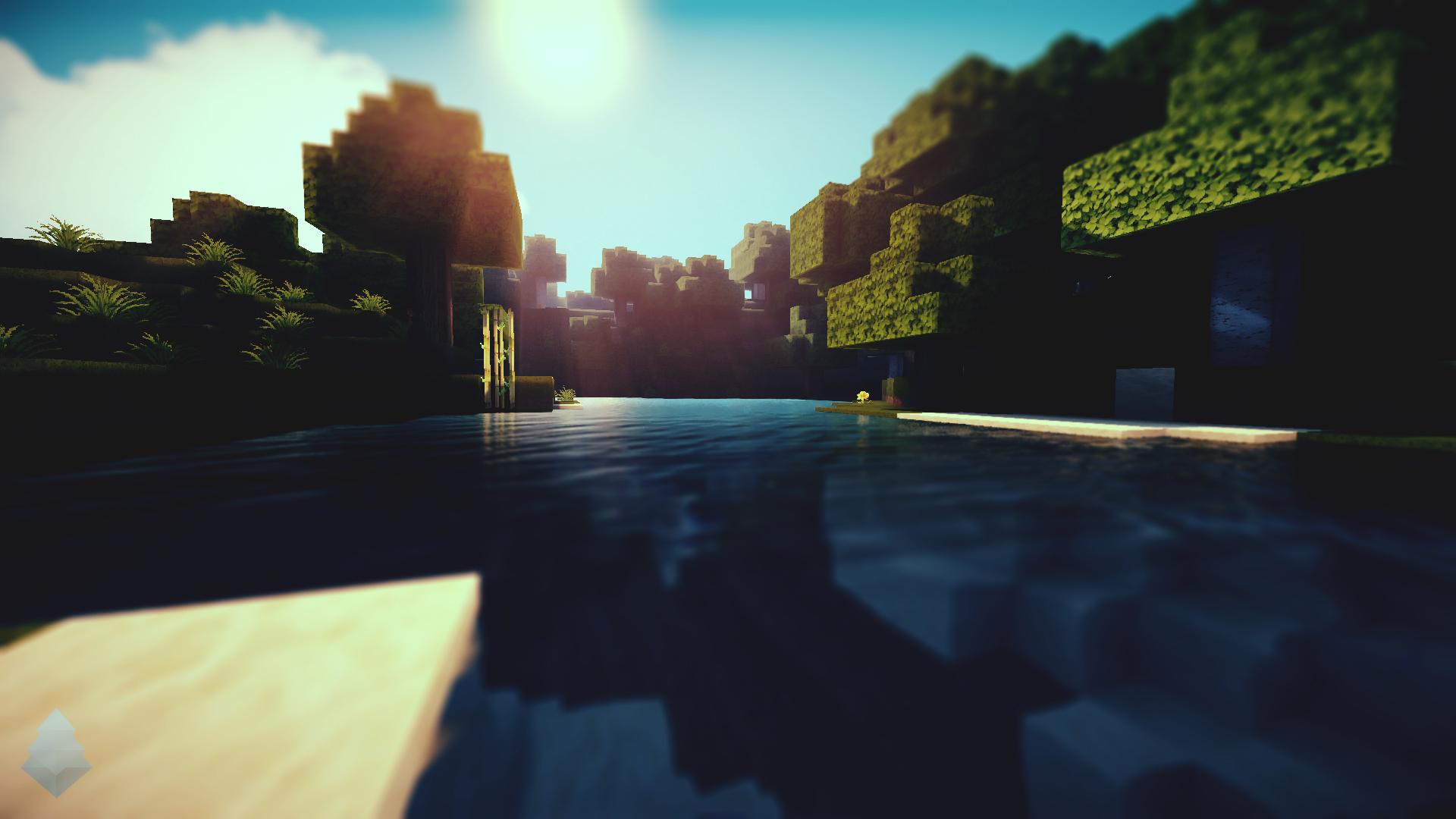 Beautiful Wallpaper Minecraft Night - minecraft_waterlight_wallpaper_by_lpzdesign-d5phz24  Trends_548958.jpg