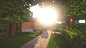 Minecraft Wallpaper - Good Morning part 2 by lpzdesign