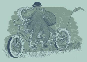 Octobike by jillustration