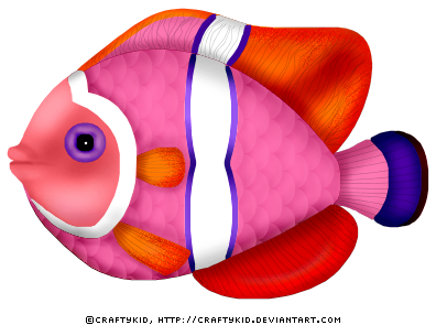 Funky Fish - pink by Craftykid