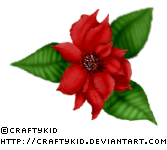 Poinsettia 2 - Red by Craftykid