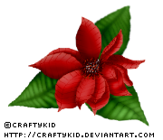 Poinsettia 1 - Red by Craftykid