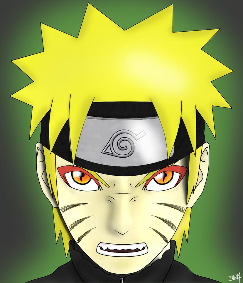 Naruto in Kyuubi-Sage Mode by DaveFreeManSage Mode And Kyuubi Mode