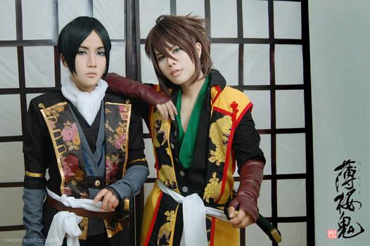 Hakuouki: Hekketsuroku - Hijikata and Okita