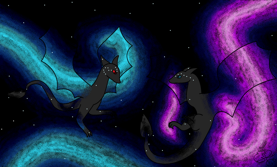 Spectral Dragons by Skunkoon on DeviantArt