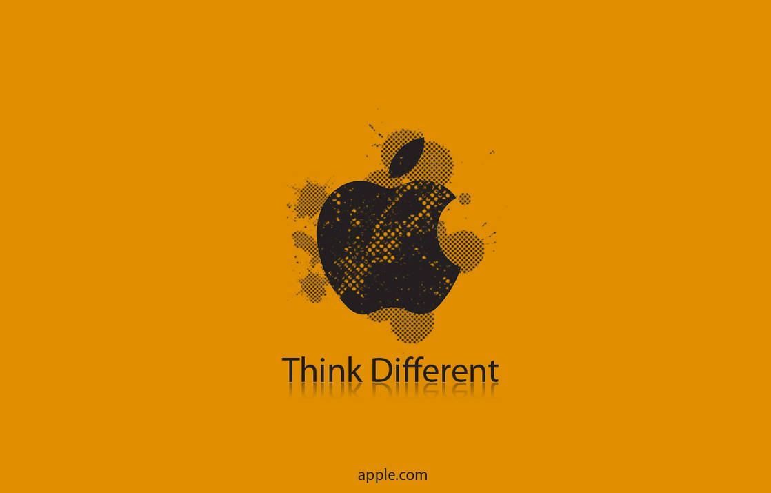 Orange Apple Wallpaper by simcomeau