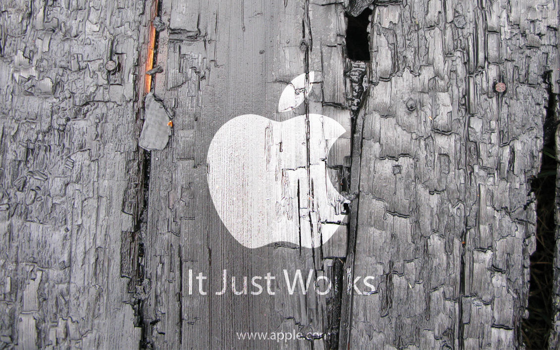 Wooden Apple Wallpaper by simcomeau