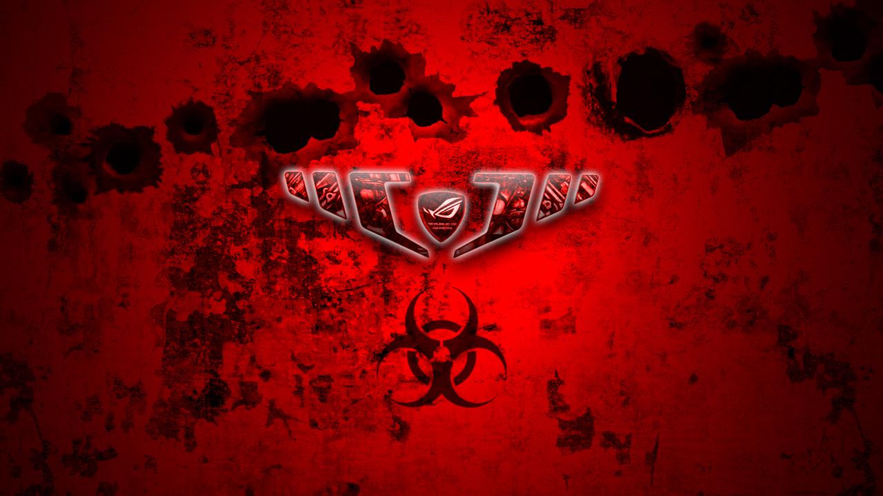 asus biohazard 'rog' wallpaperbobakazooboy on deviantart