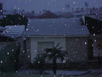snow in my village by Angeldelamuerte