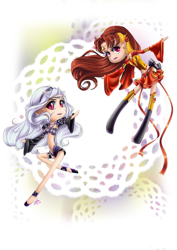C: Sailor Cosmic Dawn + Sailor Lunar Chaos by Yettyen