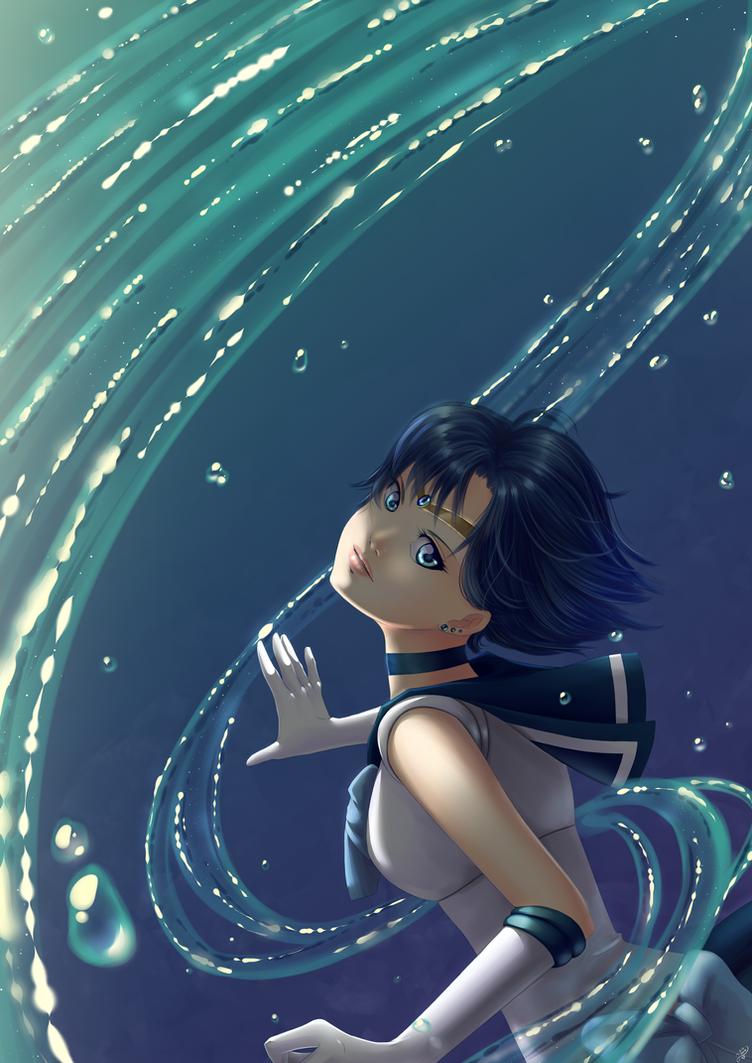 Sailor Mercury by Yettyen