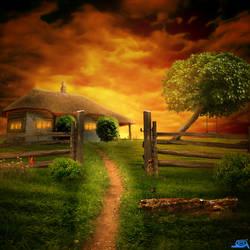 My village at twilight by arfindo96ART