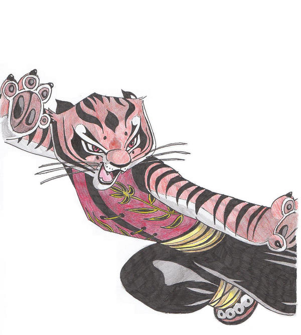 Master Tigress Colored by Natsuke1985