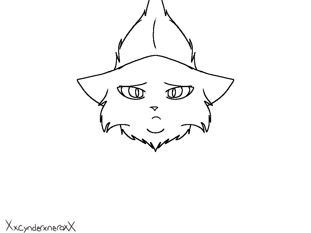 Sad Cat Lineart By XxcynderxneroxX On DeviantArt
