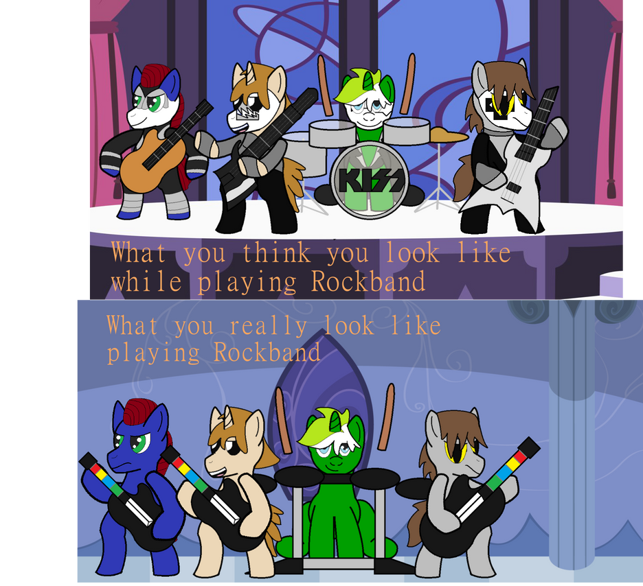 Thebronyshow challenge 7: rock band by JFPierre