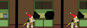 thebronyshow challenge 200: chocolate an santa hat