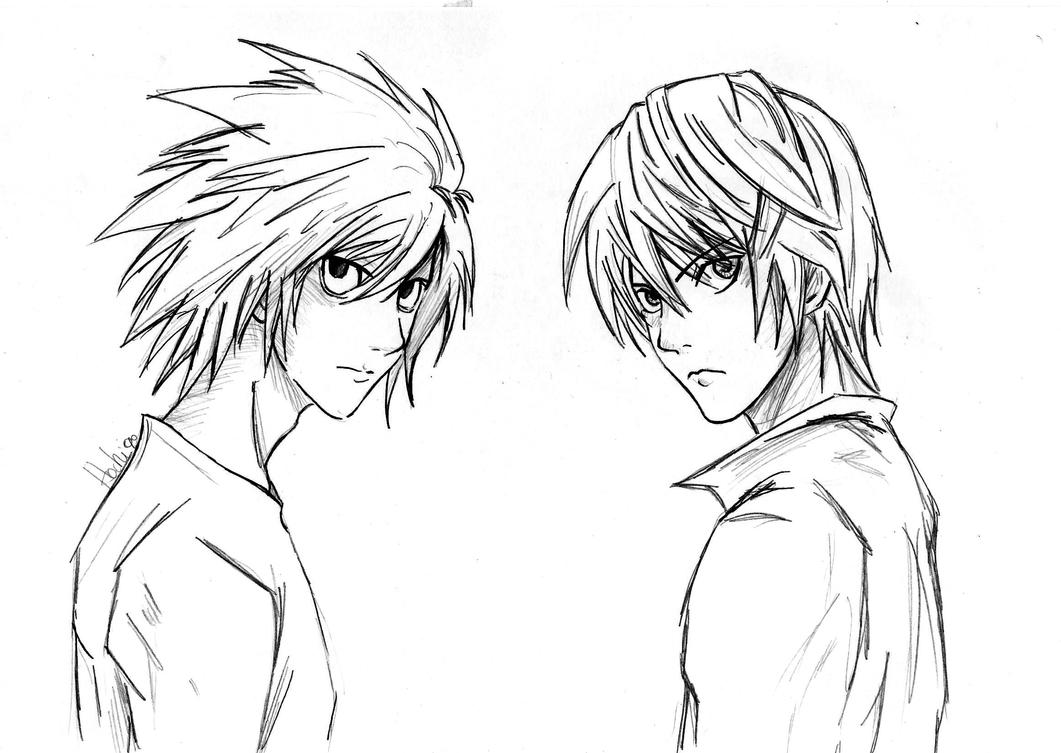 Dibujos Para Colorear De Death Note: Yagami Light Anime Coloring Coloring Pages